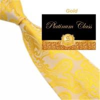 dasi batik import pria besar warna kuning golden 4 inch platinum class