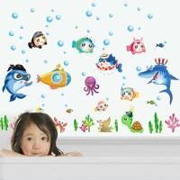 RELIZA Wall Sticker | Stiker Dinding IKAN FISH LAUT KAMAR MANDI TOILET