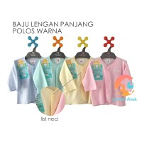 LIBBY 3-Piece Baju Bayi Lengan Panjang Polos Warna 3-6 Bulan