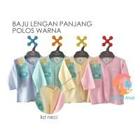 LIBBY 3-Piece Baju Bayi Lengan Panjang Polos Warna 0-3 Bulan