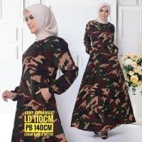 CLARENSIAstore Gamis Army Wanita Jumbo Fit XXL Big Size