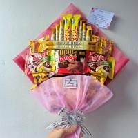 Snack Bouquet / Bucket Buket Snack Makan / Hadiah Kado Wisuda