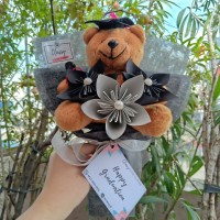Kusudama Medium Bouquet / Bucket Buket Bunga Wisuda Graduation