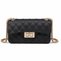 Jelly matte dof black sling bag