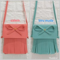 AGNES TAS RUMBAI PITA LUCU TAS FASHION ALA IMPORT KOREA SLING BAG UNIK