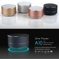 A10 Metal Mini Wireless Bluetooth Speaker Subwoofer Microphone TF Card