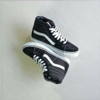 Sepatu Vans SK8 Hi Black White | Sepatu Vans Original