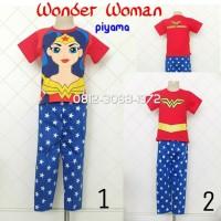 Baju Tidur Piyama Anak Perempuan Cewek Setelan Karakter Superhero Girl