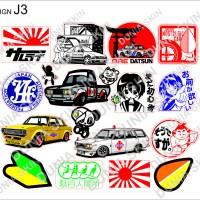 Travel Label / Sticker Koper Rimowa Design J3 JDM Anime Stiker Logo