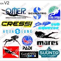 Travel Label / Sticker Koper Rimowa Design V2 Scuba Diving Dive Logo