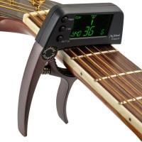 Meideal TCapo20 Deluxe Capo - Tuner Gitar warna Coffee