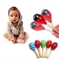 Marakas Kayu Mainan Musik Bayi
