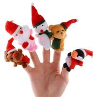 Set boneka jari natal / Xmas Christmas Finger Puppet