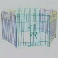 Kandang Kucing-Anjing Pagar 70x70 Pelangi