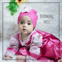 Blooming Dress - Baju Muslim Balita - Gamis Anak Perempuan Kekinian