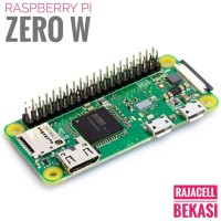 New Raspberry Pi ZERO W WH 1Ghz Original Pin Tersolder Wifi Bluetooth
