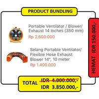 "BUNDLE 14-10 : Portable Ventilator 14"" + Flexible Hose 10 meter"