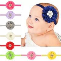 pita 2 layer bando bandana bayi anak perempuan headband