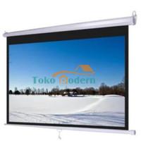 "Layar Proyektor / Screen Projector Wallmount 70"""