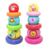 Fisher Price Rainbow Stacked Ball / bola bayi / mainan susun bola