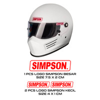 1 Set Sticker Skotlet Helm Simpson