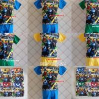 Kaos Setelan Anak Laki Baju Karakter Superhero Spiderman, Batman dll