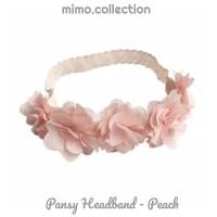 Pansy bandana bayi bunga flower renda baby headband bando anak