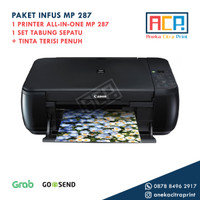 Paket Printer Canon All in One MP 287 + Infus Tabung Ekonomis MP287