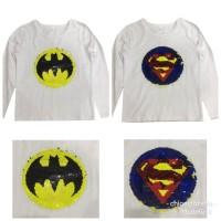 Kaos Flip Sequin reversible superman - batman SEQ-08