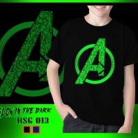 Baju Kaos Anak Superhero Avengers Glow in the dark End Game