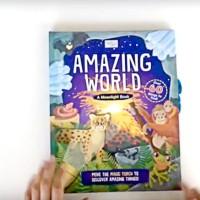 A Moonlight Book : Amazing World. Torch light book. Buku anak import