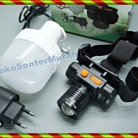 SENTER KEPALA ZOOM CREE LED   HIGH POWER HEADLAMP LAMPU HIKING TERANG