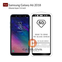 Full Cover Tempered Glass Warna 5D Samsung Galaxy A6 2018 ( 5.6 inch )