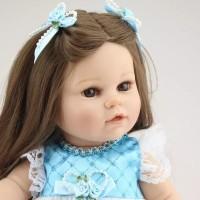 PO Boneka Reborn Blue Dress 40cm / Boneka Mirip Bayi NPK / Mainan Anak