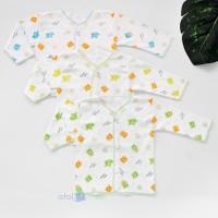 Baju bayi baru lahir lengan panjang putih merk kinara