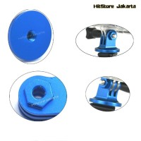 Cnc Aluminium Tripod Mount Adapter Aksesoris Action Cam - Biru