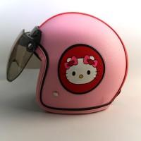 Helm Bogo Kulit Anak 65 Hello Kitty Pink