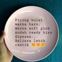 piring bulat Hoya soft pink 12pcs