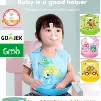 Celemek bayi Dengan Wadah Bahan Silicon