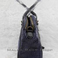 Liebeskind Vaya Bubble Leather Tote Bag Navy - Tas Original