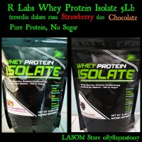 R Labs Whey Protein Isolate 5lb Suplemen Fitness Gym Pure No Sugar