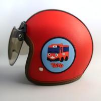 Helm Bogo Kulit Anak 65 Tayo Red