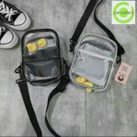 HSJ Egg Bag Sling Bag Mika Transparan