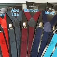 Suspender/Bretel/Tali jojon 2,5 cm - Seri 2 - Untuk Anak dan Dewasa - Hitam