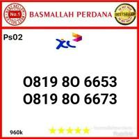Nomor Cantik XL 10 Digit Seri 0819 80 6653 Ps02