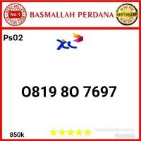 Nomor Cantik XL 10 Digit Seri 0819 80 7697 Ps02