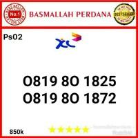 Nomor Cantik XL 10 Digit Seri 0819 80 1825 Ps02