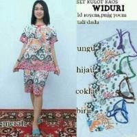 Setelan Kaos wanita / Setelan Batik / Kulot Batik / Baju Kaos batik