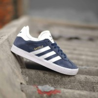 Sepatu Anak original Adidas gazelle vtg navy white