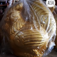 Celengan Ayam Mini Gold Tembikar / Tanah Liat Bakar